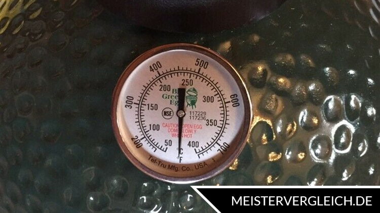 Keramik Grill Big Green Egg Temperaturanzeige