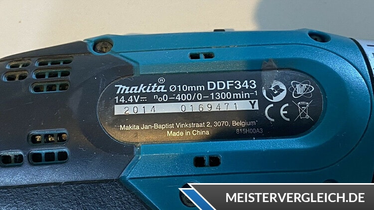 Makita DDF343 Datenblatt