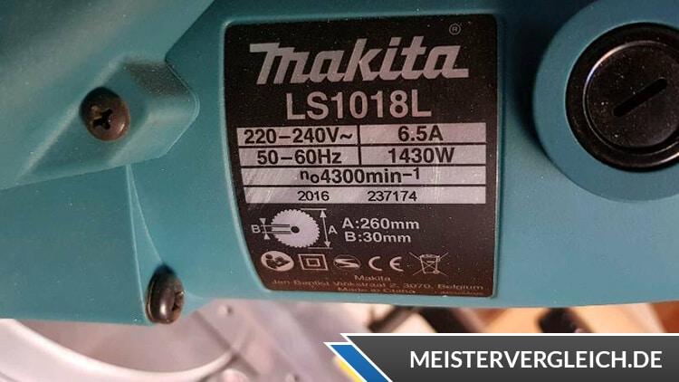 Makita LS1018L Datenblatt