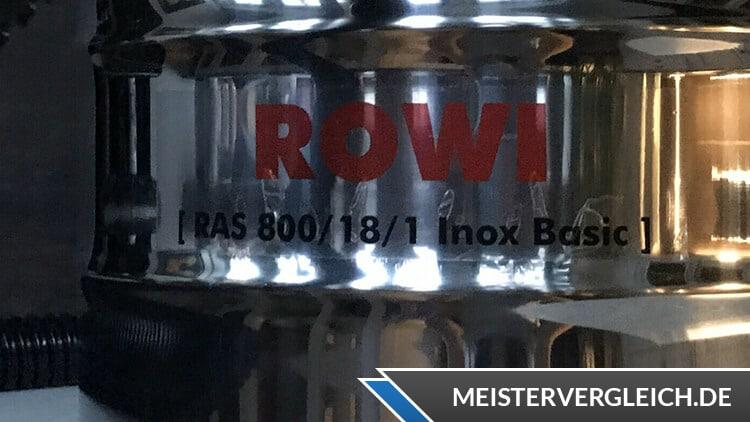 Rowi Aschesauger RAS 800-18-1 Bezeichnung