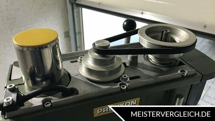 Tischbohrmaschine Drehzahl einstellen