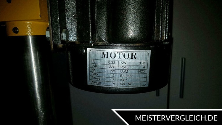 Tischbohrmaschine Motorleistung