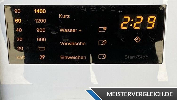 Waschmaschine Schleuderzahl einstellen