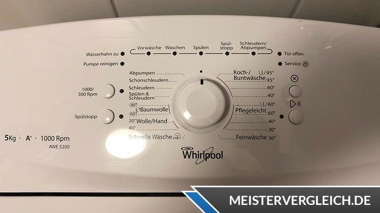 Whirlpool AWE 5200 Bedienfeld