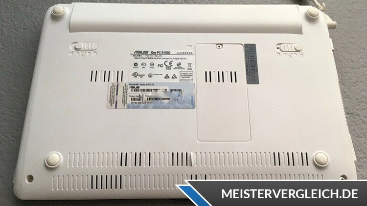 Asus EeePC R105 Unterseite