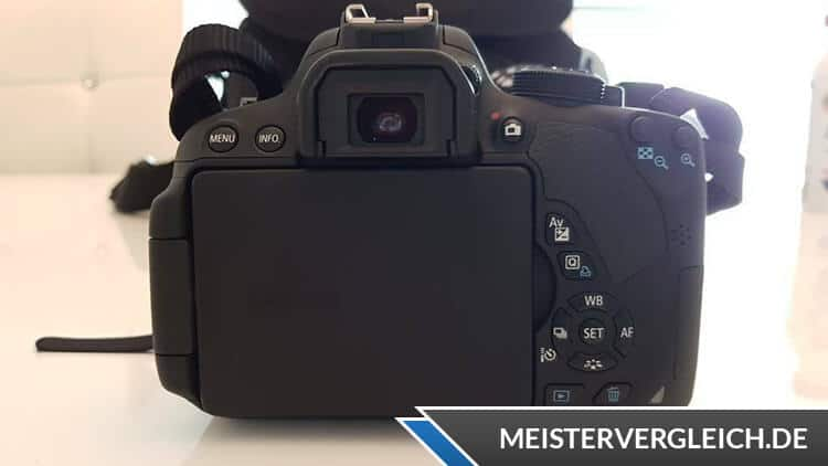 Canon EOS 700D Rückseite