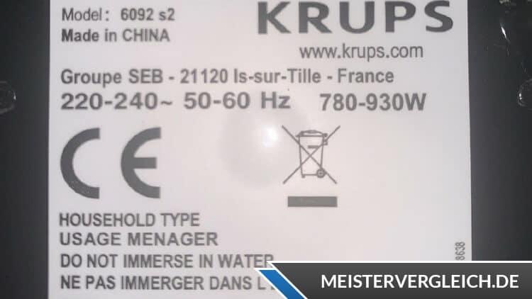 Krups FDK 451 Datenblatt