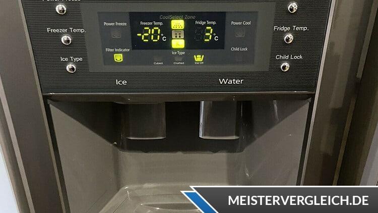 Side-by-Side Kühlschrank Bedienelement