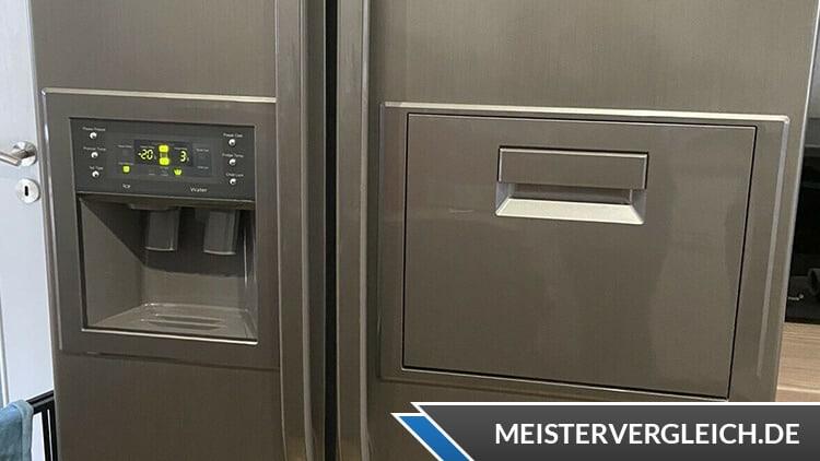 Side-by-Side Kühlschrank Eiswürfelspender und Getränkefach