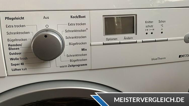 Siemens iQ700 WT46W562 Wärmepumpentrockner Bedienung