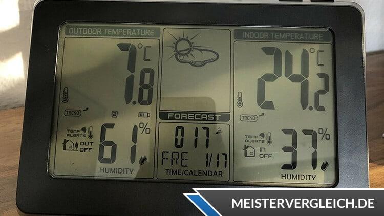 Wetterstation Temperaturanzeige
