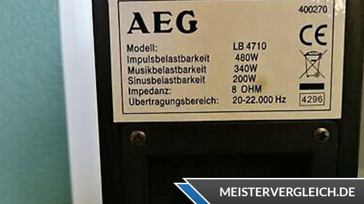 AEG LB 4710 Datenblatt