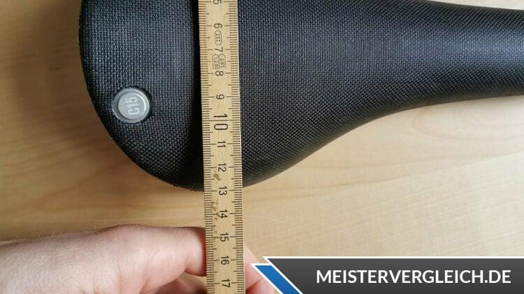 Fahrradsattel Breite messen