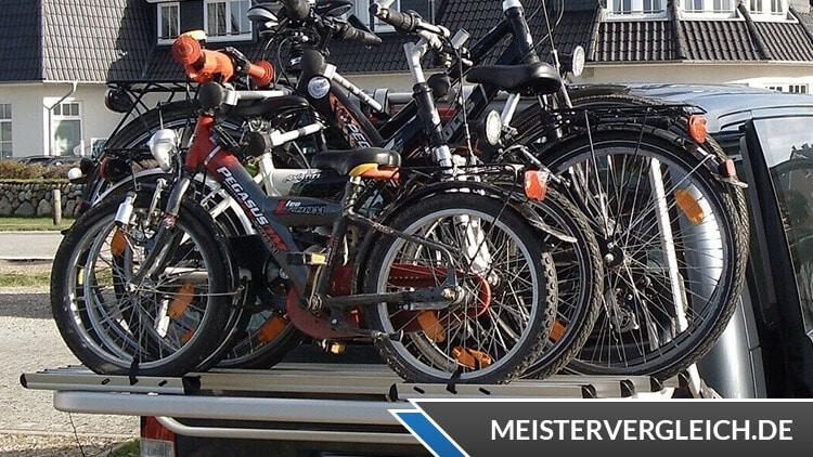 Fahrradträger im Einsatz