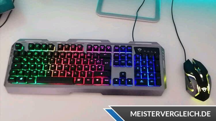 Gaming-Tastatur Beleuchtung an