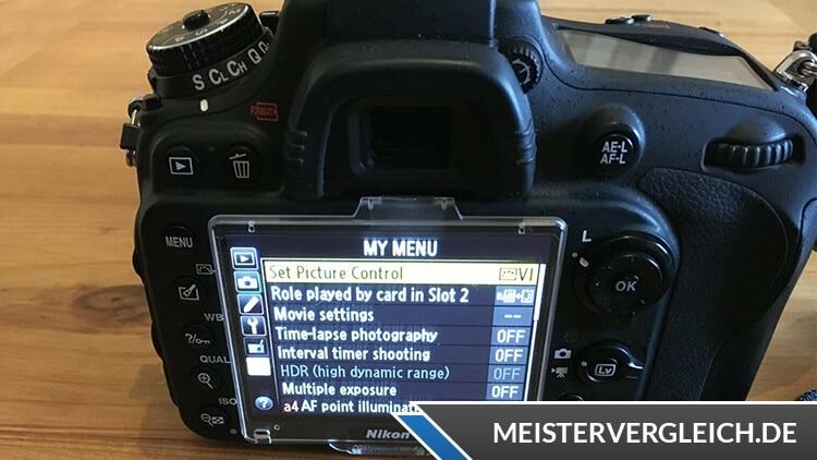 Spiegelreflexkamera Display-Monitor