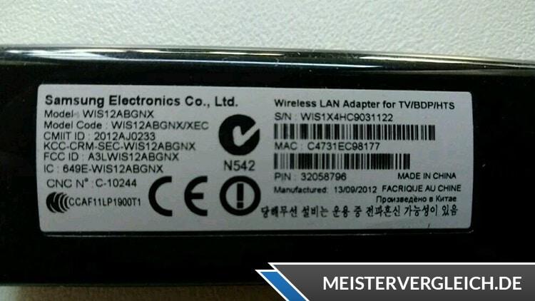 WLAN Stick Samsung Daten