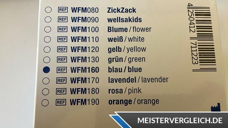 Wellsamed Mundschutz Farben
