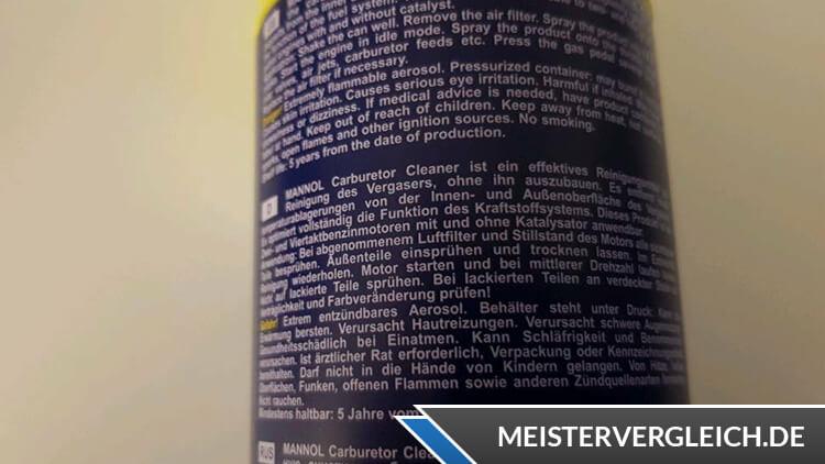 AGR Ventil Reiniger Beschreibung
