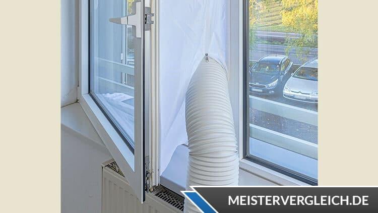 Fensterabdichtung für Klimaanlage am Fenster