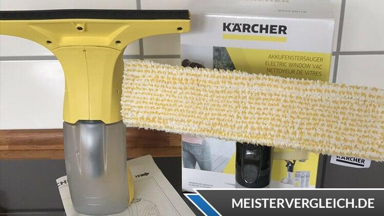 Kärcher Fenstersauger KWI 1 Plus  mit Mikrofaser-Wischbezug und Fensterreiniger-Konzentrat