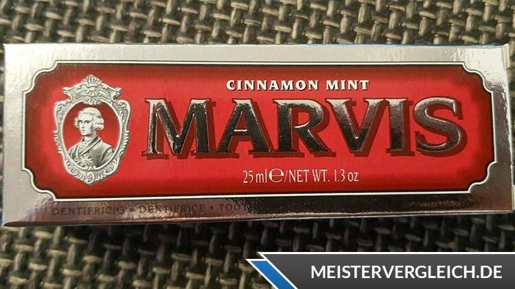 Marvis Zahnpasta Verpackung