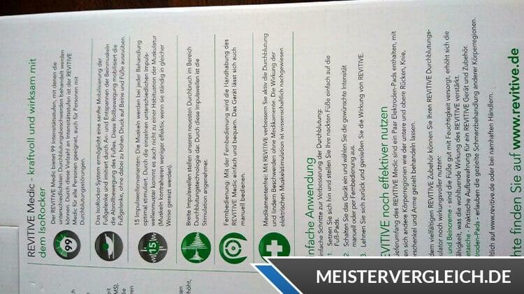 REVITIVE Medic Plus Anwendung