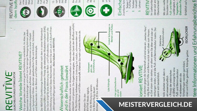 REVITIVE Medic Plus Bedienungsanleitung