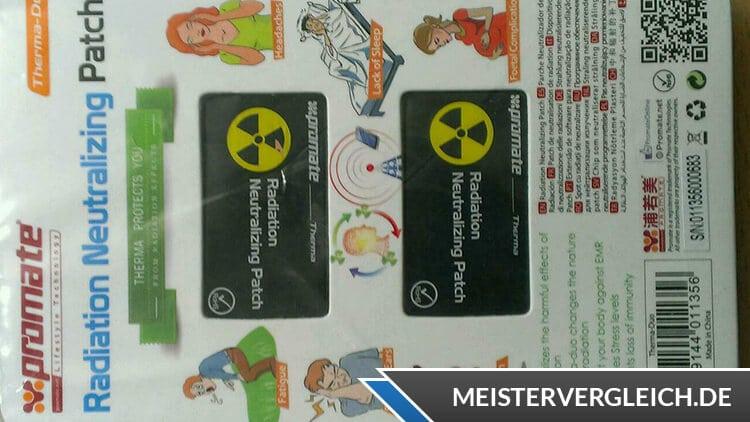 Strahlenschutz Handy Sticker Test