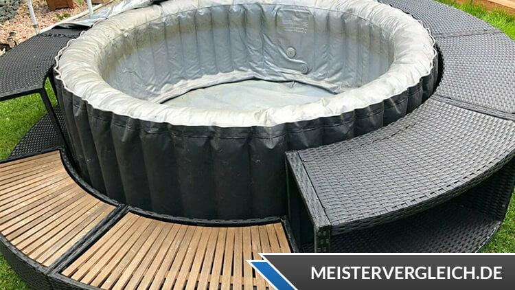 Whirlpool Umrandung Aufbau