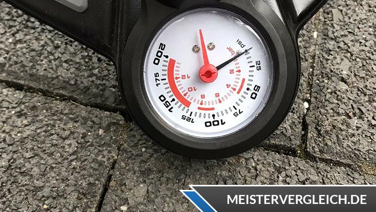 Crivit Fahrradpumpe Druckanzeige
