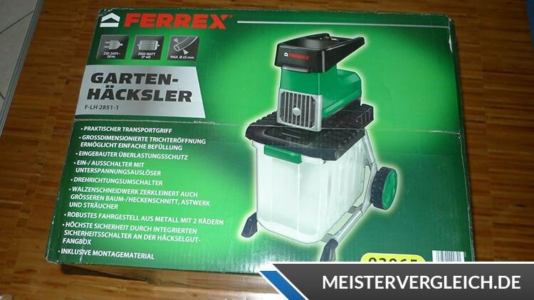 FERREX Gartenhäcksler Verpackung