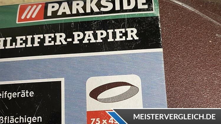 PARKSIDE Bandschleifer Dragster PBSD 600 A1 Größe vom Schleifpapier