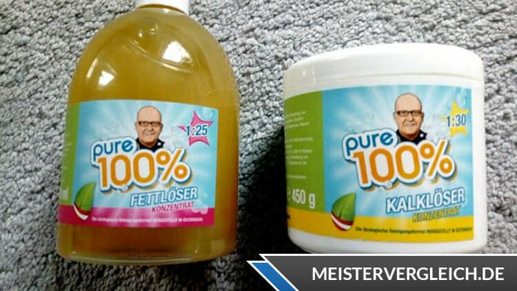 Pure 100 Fettlöser Test