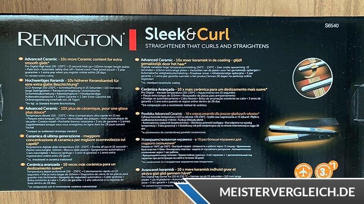 REMINGTON Pro-Sleek & Curl S6540 Beschreibung