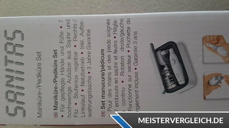 SANITAS Maniküre Set SMA 38 Anleitung