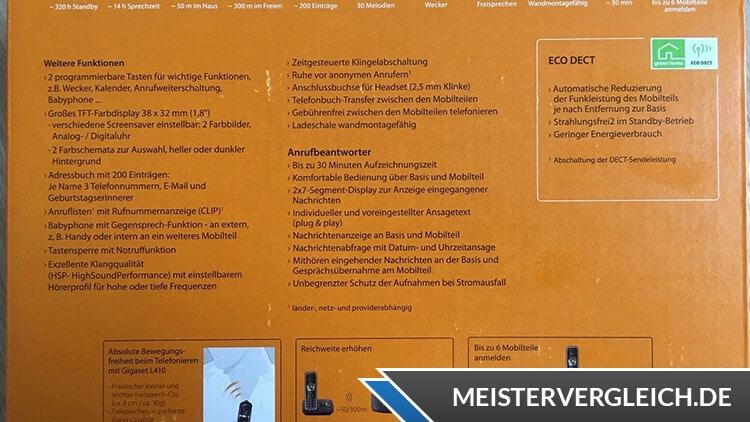 Siemens Gigaset C530A Duo Lieferumfang