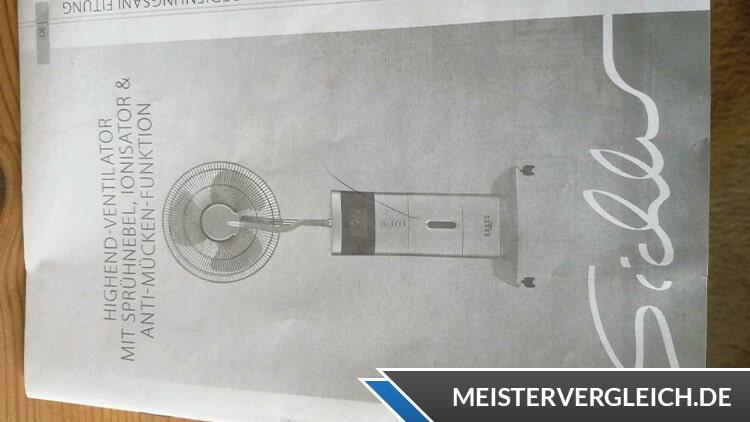Sprühnebel Ventilator Bedienungsanleitung