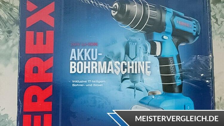 FERREX Akku-Bohrschrauber Verpackung