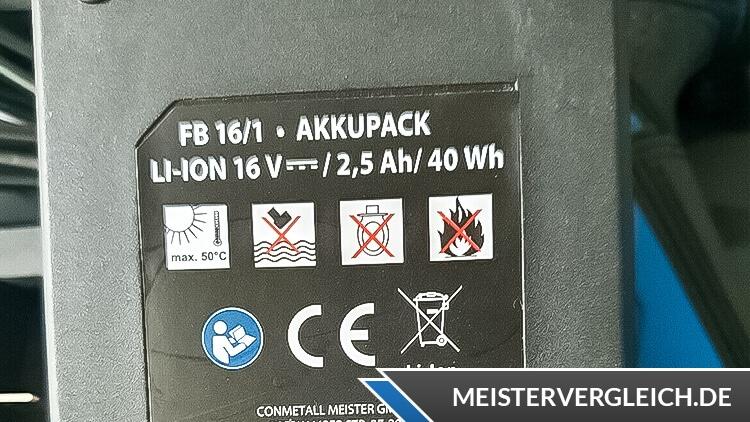 FERREX Akku-Bohrschrauber Warnhinweise