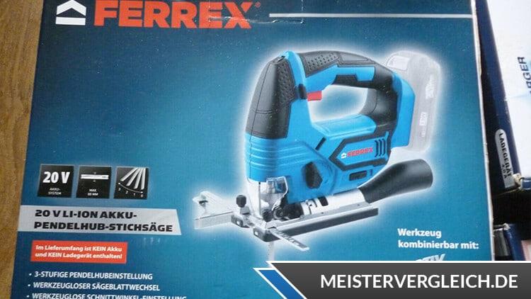 FERREX Akku-Stichsäge Verpackung