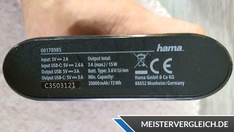 Hama Power Pack Kapazität
