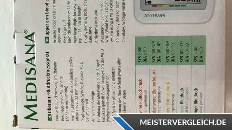 MEDISANA Blutdruckmessgerät BU 510 Anwendung