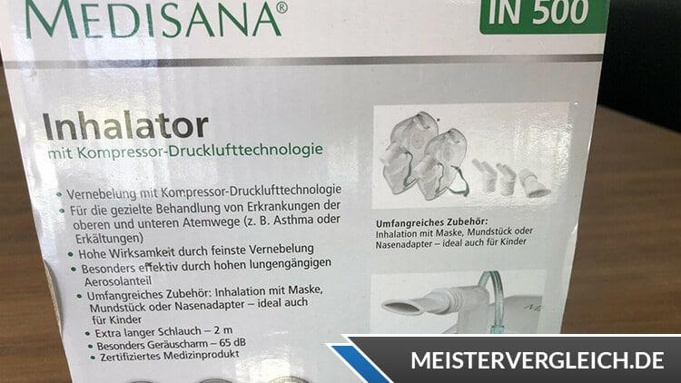 MEDISANA Inhalator IN 500 Verpackung