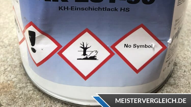 Metallschutzlack 3 in 1 Sicherheitssymbole