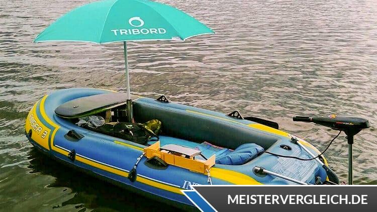 Sonnenschirm für Schlauchboot