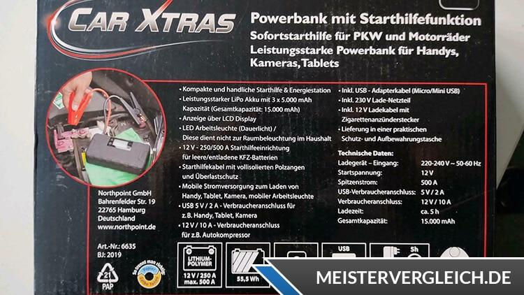 CAR XTRAS Powerbank Anwendung