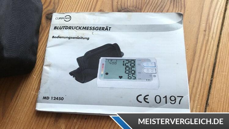 CURAmed Oberarm-Blutdruckmessgerät Bedienungsanleitung