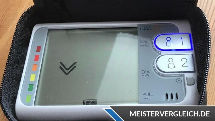 CURAmed Oberarm-Blutdruckmessgerät Display