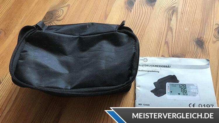 CURAmed Oberarm-Blutdruckmessgerät Reisetasche